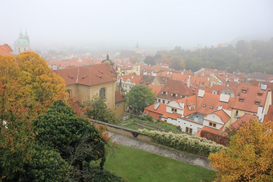 Градчаны Прага вид на город