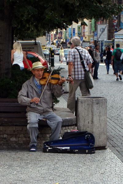 Музыканты на улицах Праги – традиция из средневековья