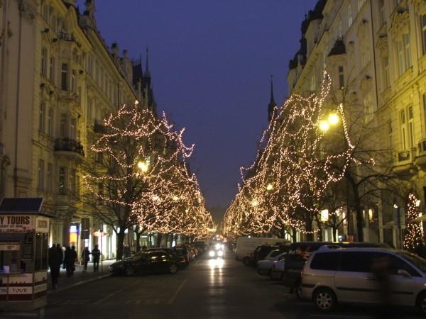 Ночная Прага — фотографии