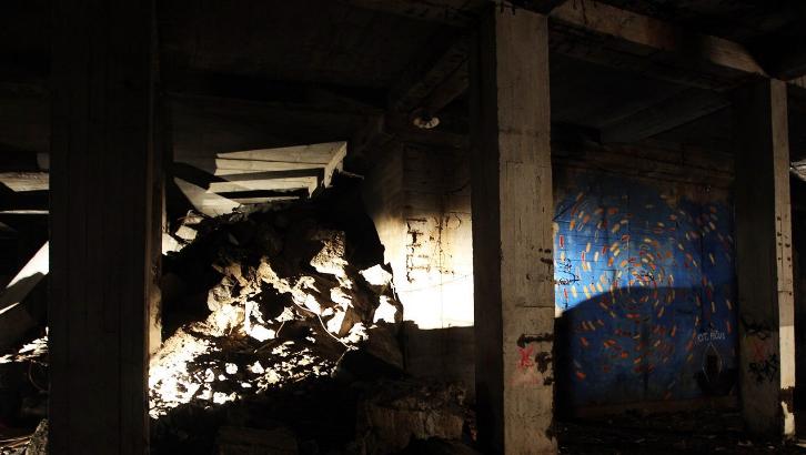 В подземельях под Метрономом на Летенском холме