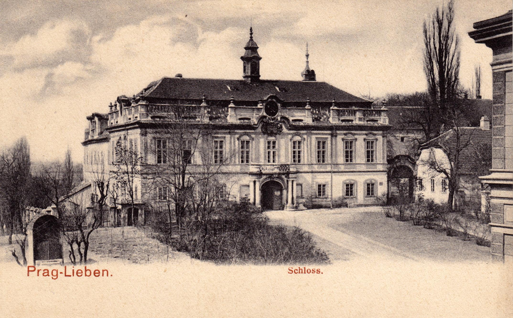 Замок Либень в 19 веке